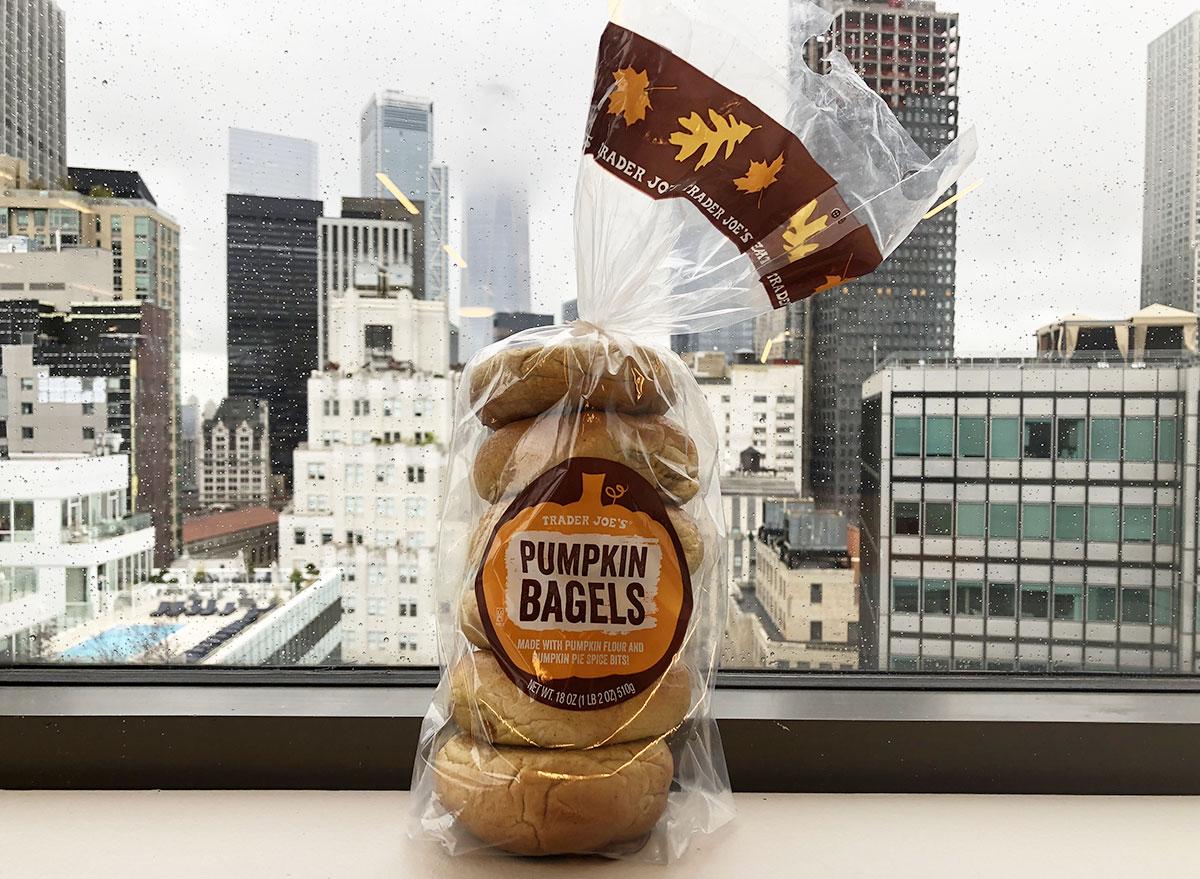 trader joes pumpkin bagels