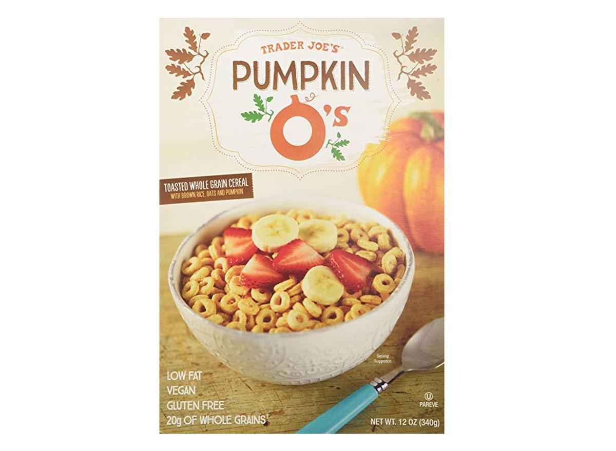trader joes pumpkin os cereal box