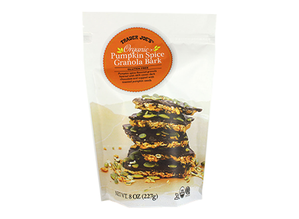 trader joes pumpkin spice granola bark
