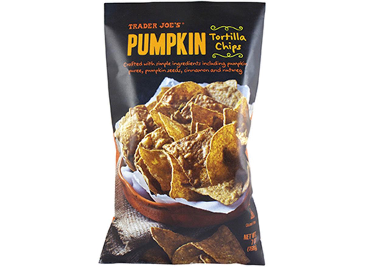 trader joes pumpkin tortilla chips