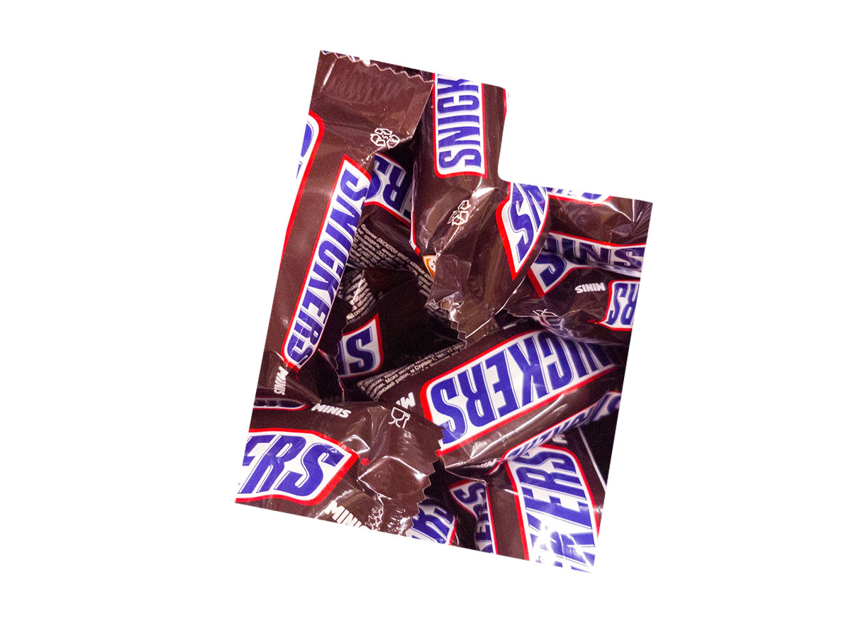 Utah's favorite candy bar is Snickers