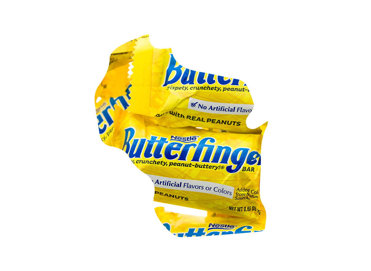 Wisconsin's favorite candy bar is Butterfinger