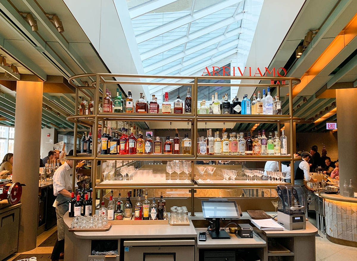 Cocktail bar on the fourth floor of the Chicago Starbucks Reserve Roastery