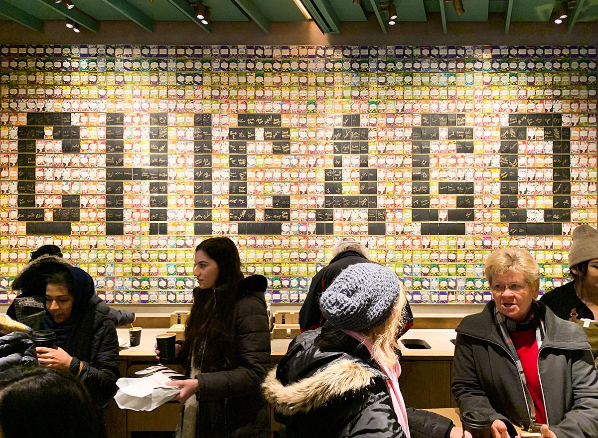 Chicago sign inside the Starbucks Reserve Roastery