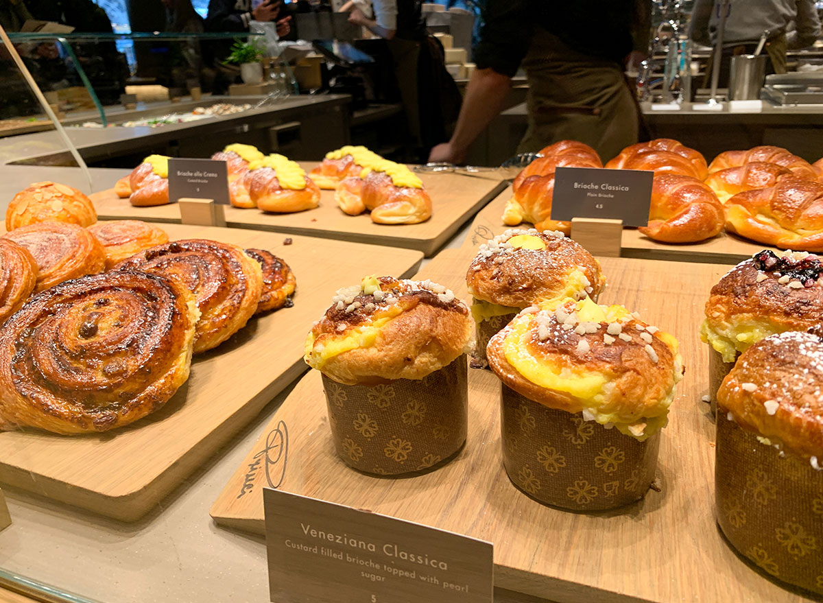 Pastries on display at Starbucks Reserve