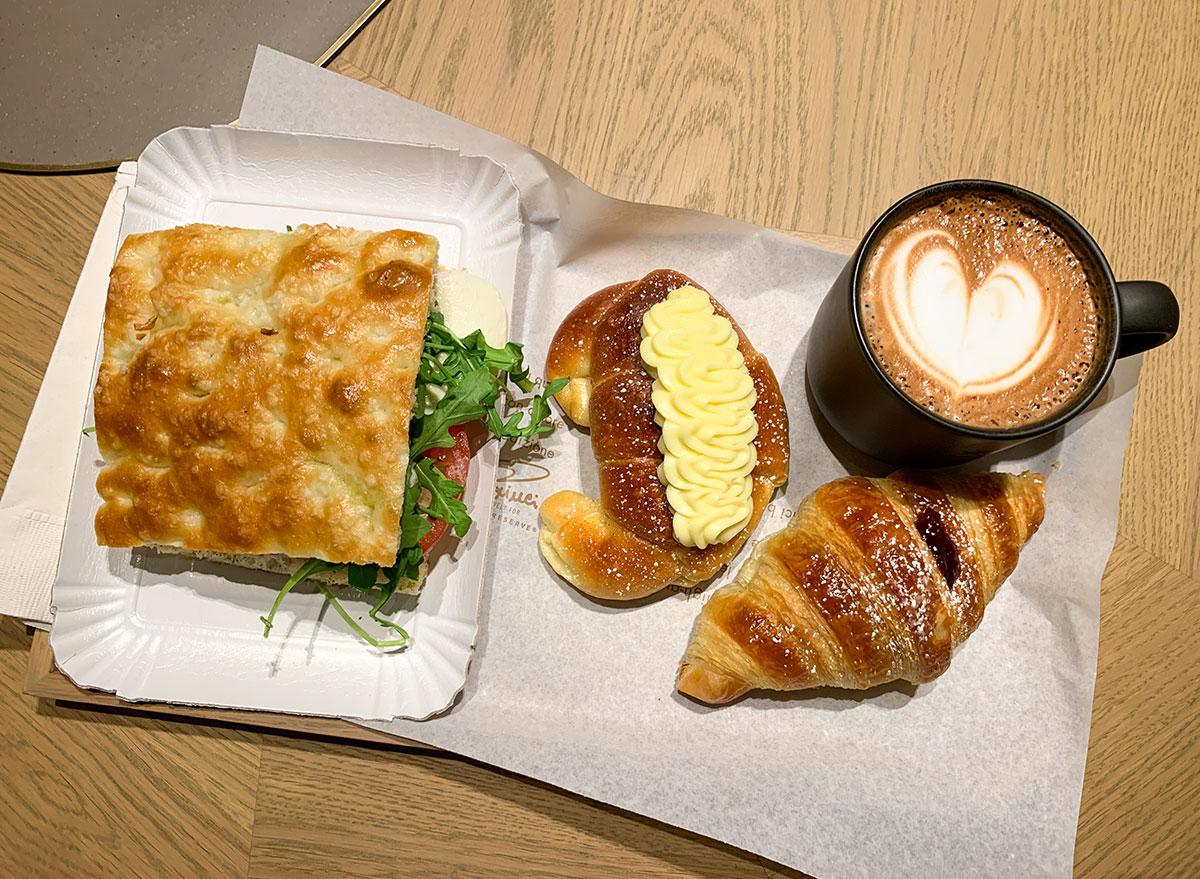 Food to taste test at the Chicago Starbucks Reserve