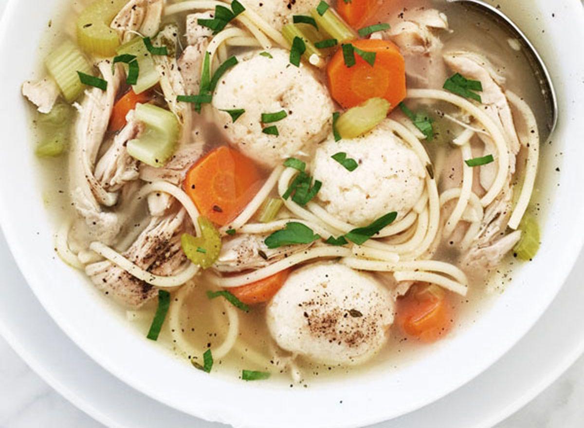 Chicken Noodle Matzo Ball Soup