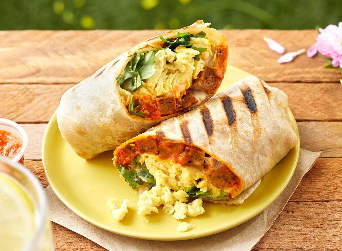 Just egg burrito picnic