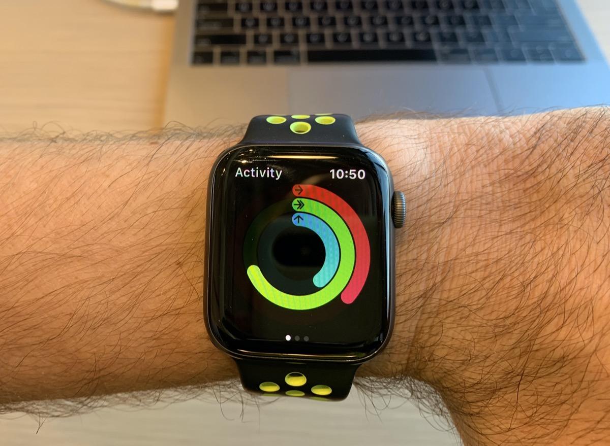 Apple iWatch Activity tracker on hand