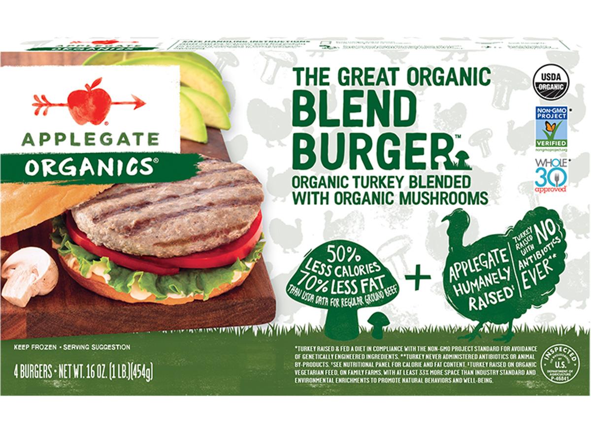 applegate blended burgers turkey and mushroom