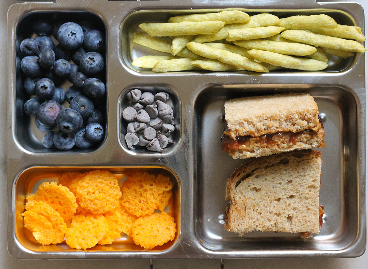 nut butter and jelly sandwich bento box
