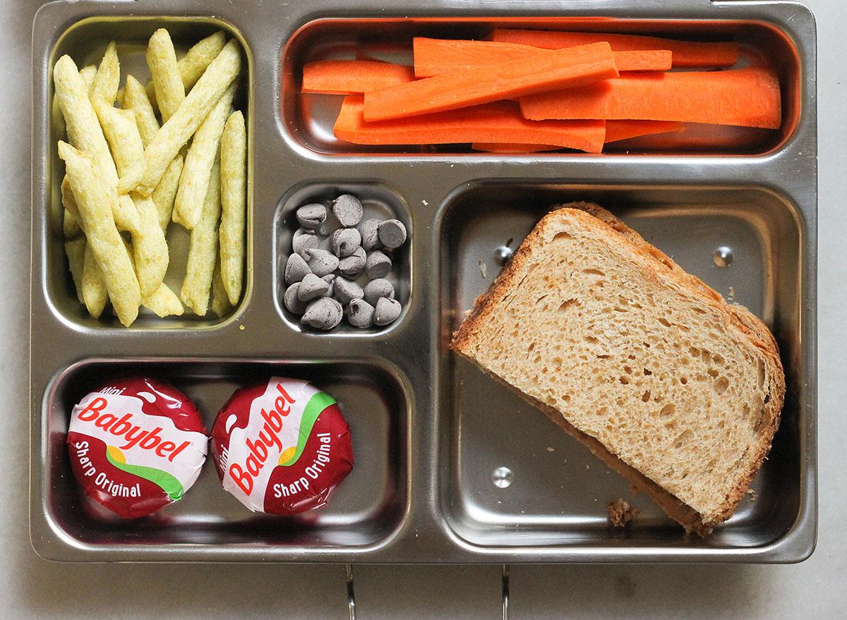 nut butter sandwich bento box