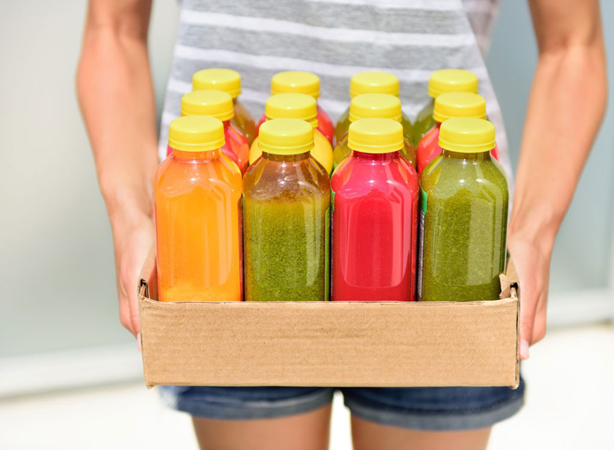 Collection of bottled smoothies