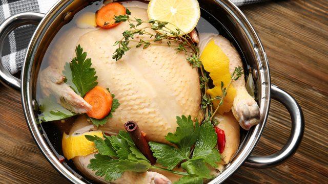 brining turkey in pot