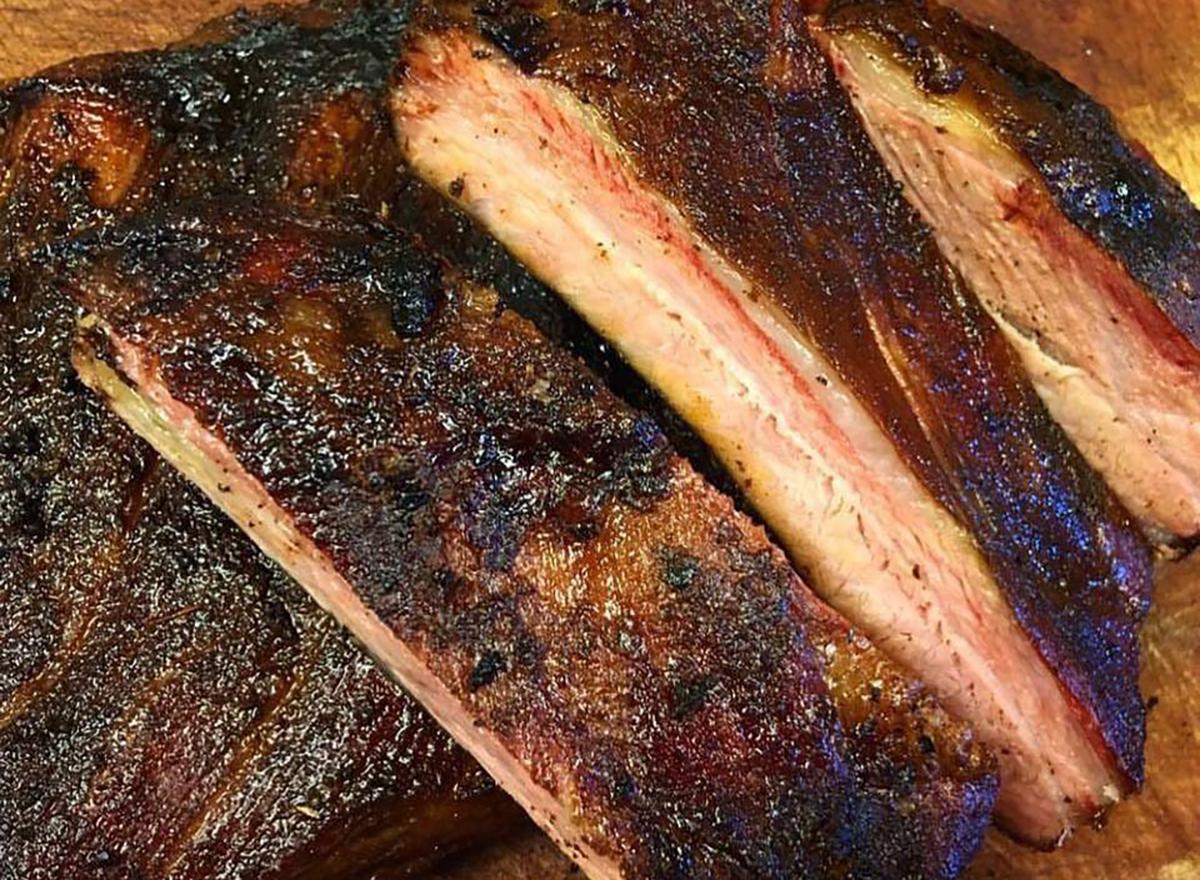 brisket meat closeup