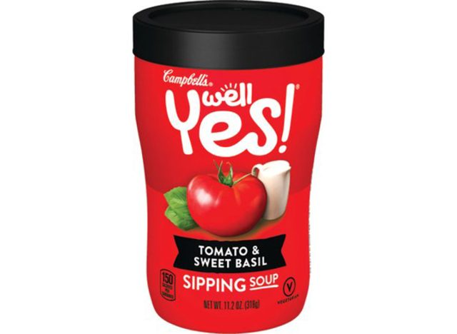 campbells well yes sipping soup