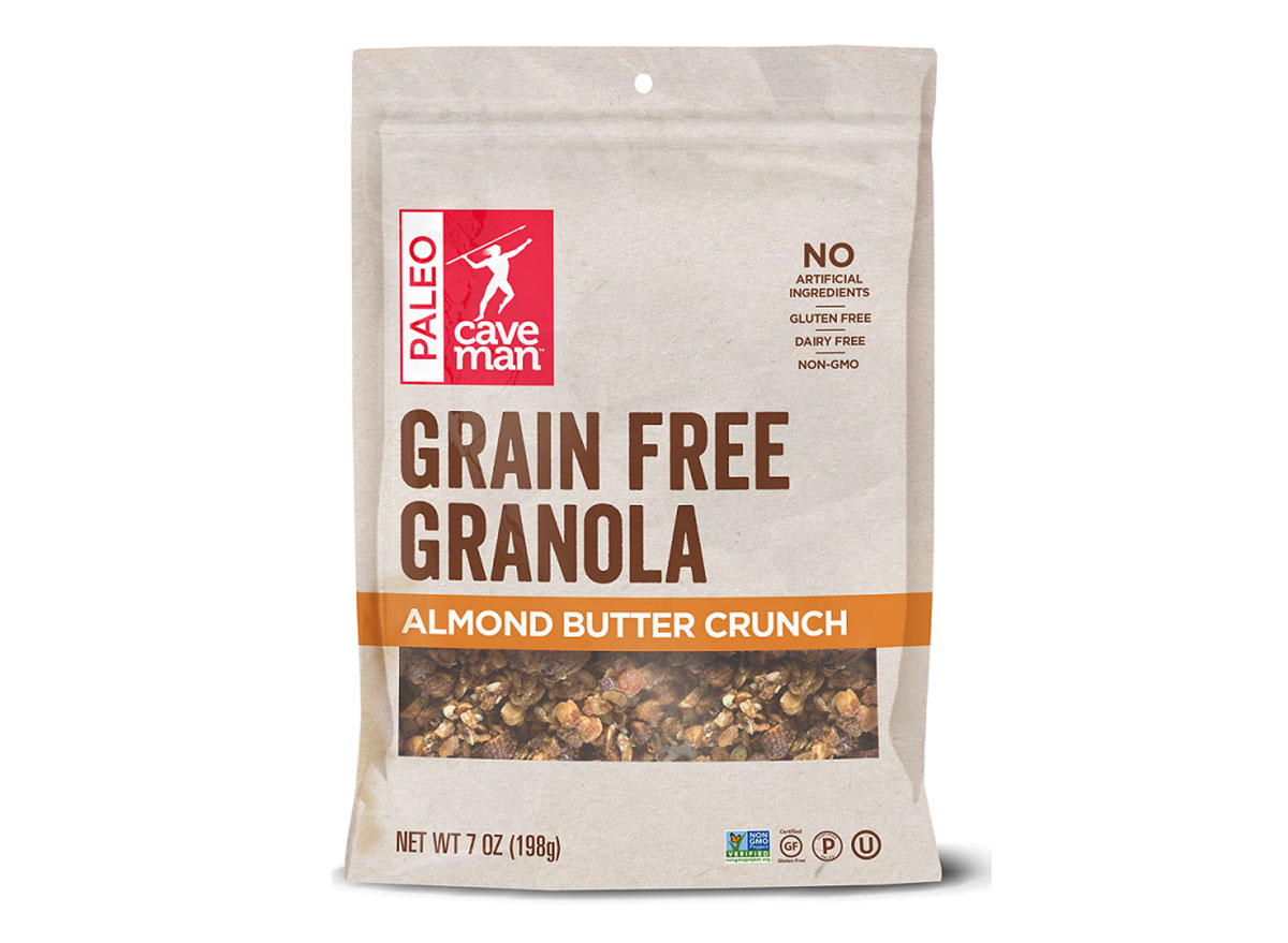 caveman foods grain free granola almond butter crunch