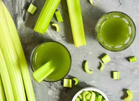 celery stalks and celery juice