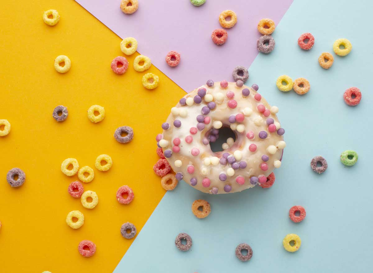 Cereal topped doughnut