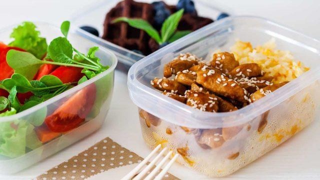Chicken teriyaki bento box lunch meal prep