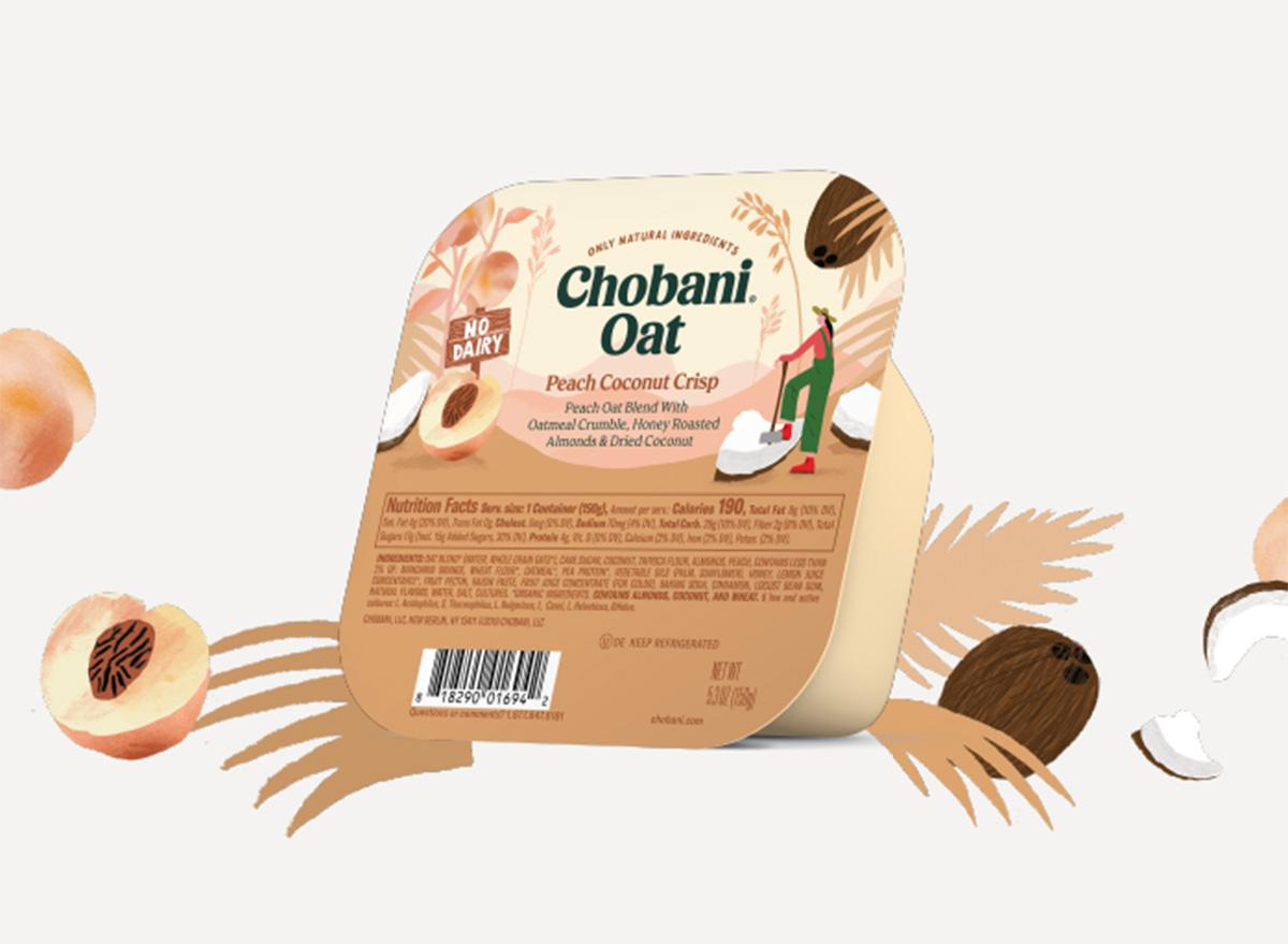 chobani oat peach coconut crisp