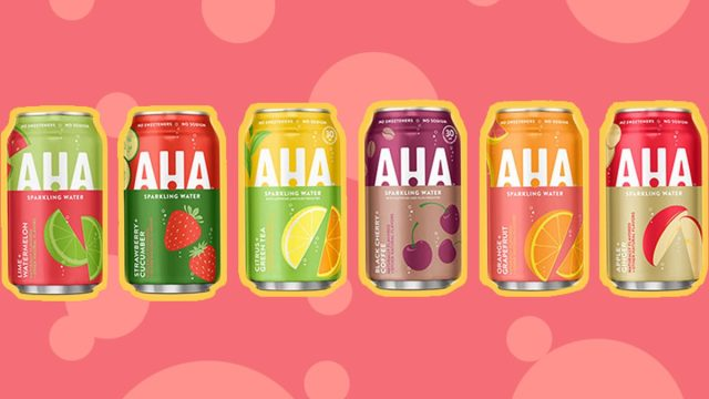 the launch lineup for coca-cola aha flavored sparkling water