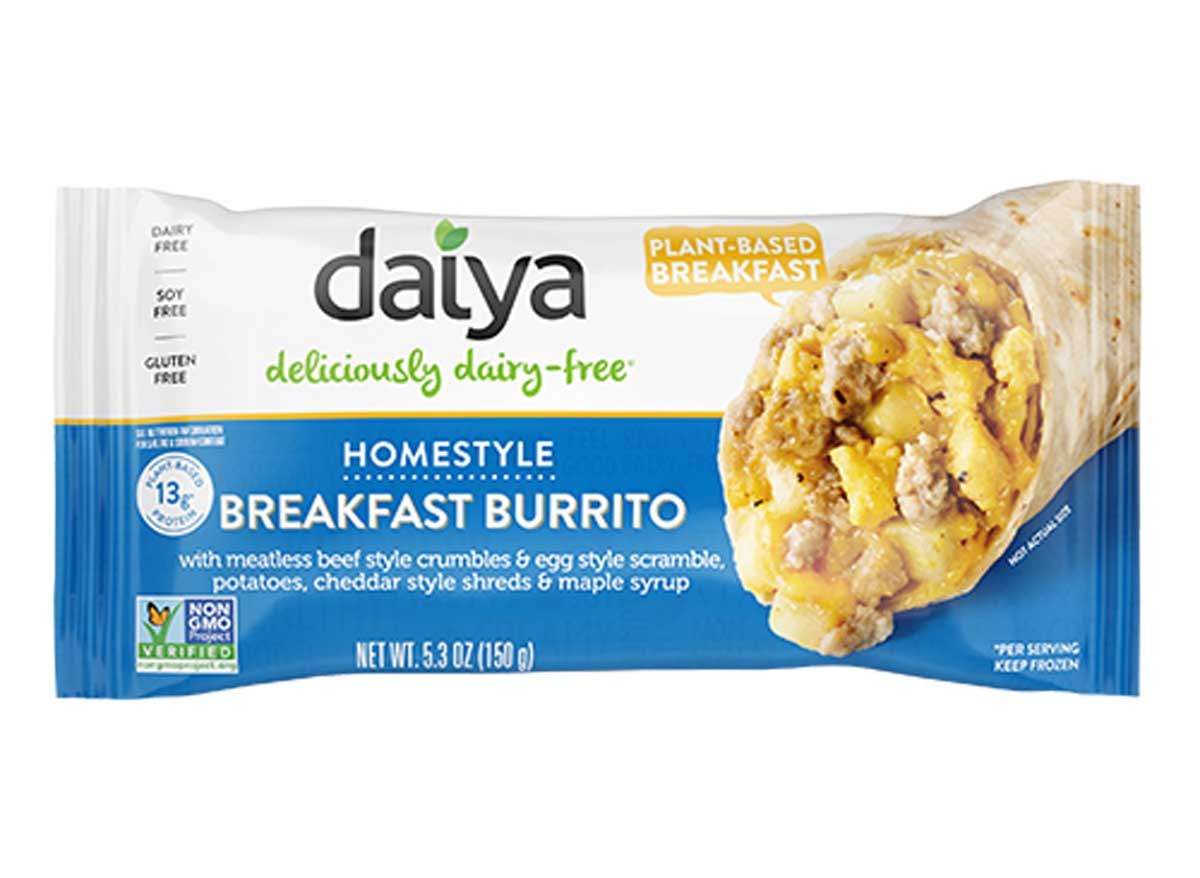 Daiya homestyle plant-based breakfast burrito