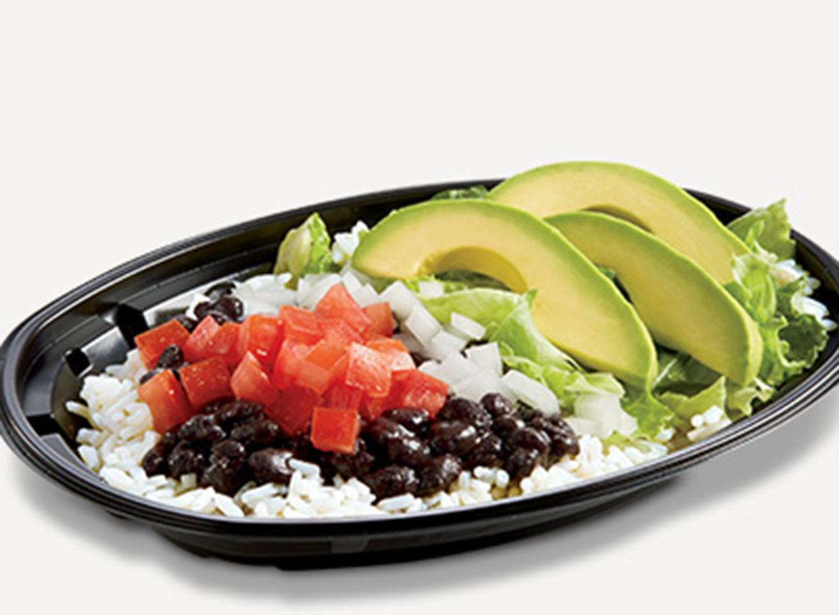 del taco avocado veggie bowl