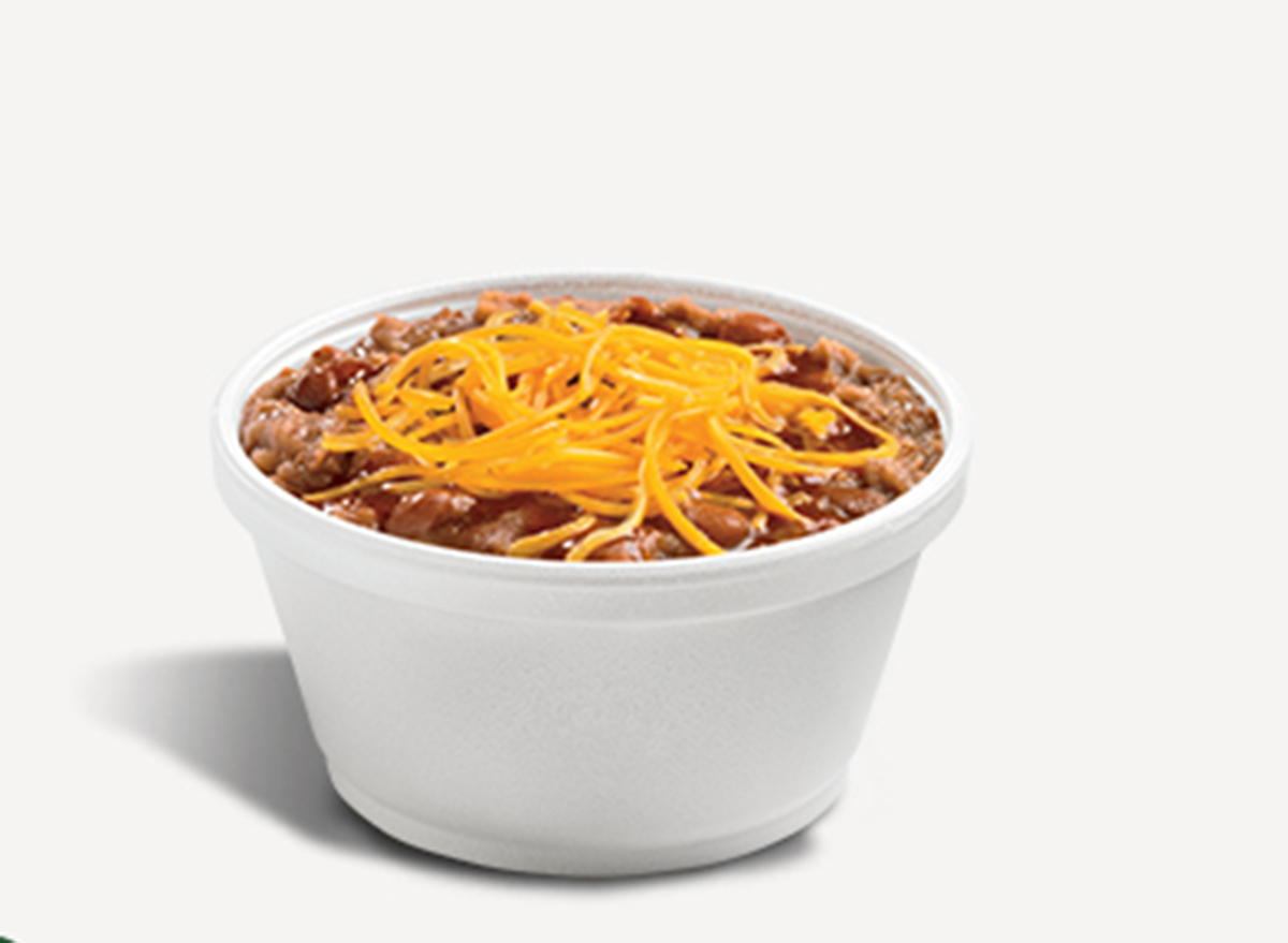 del taco bean and cheese cup