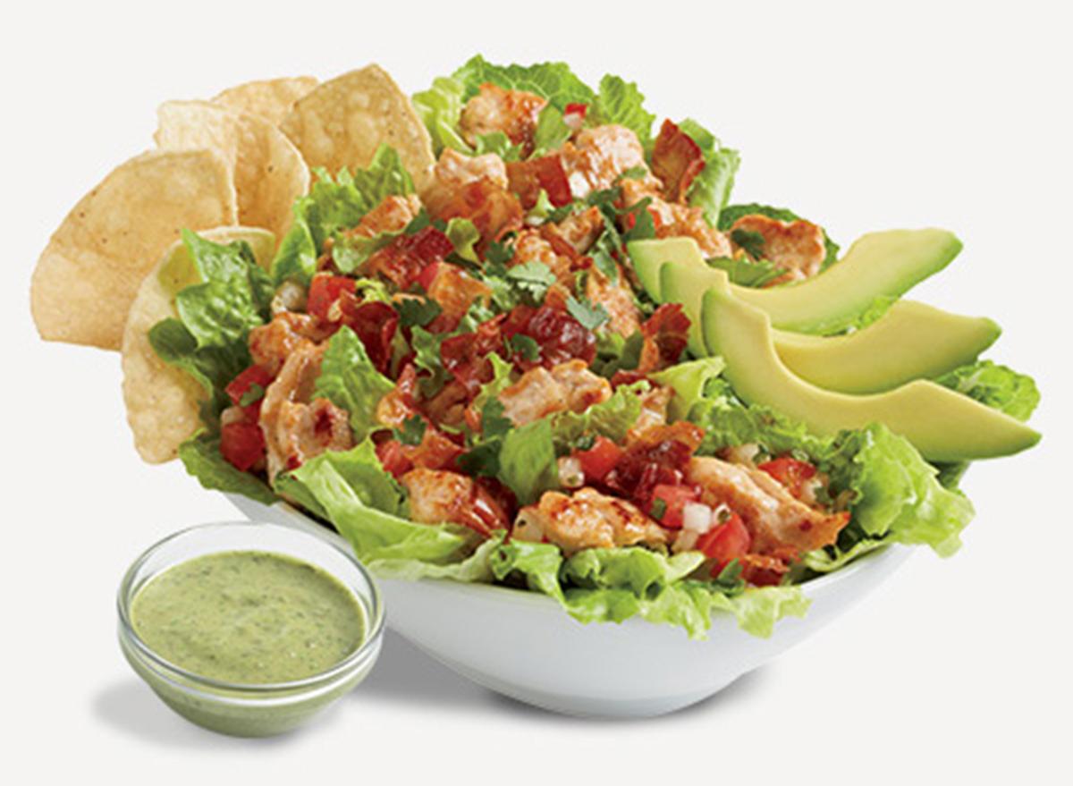 del taco chicken bacon and avocado salad