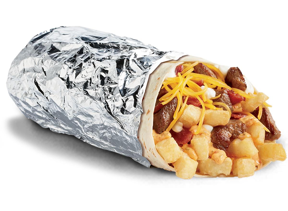del taco steak and potato burrito