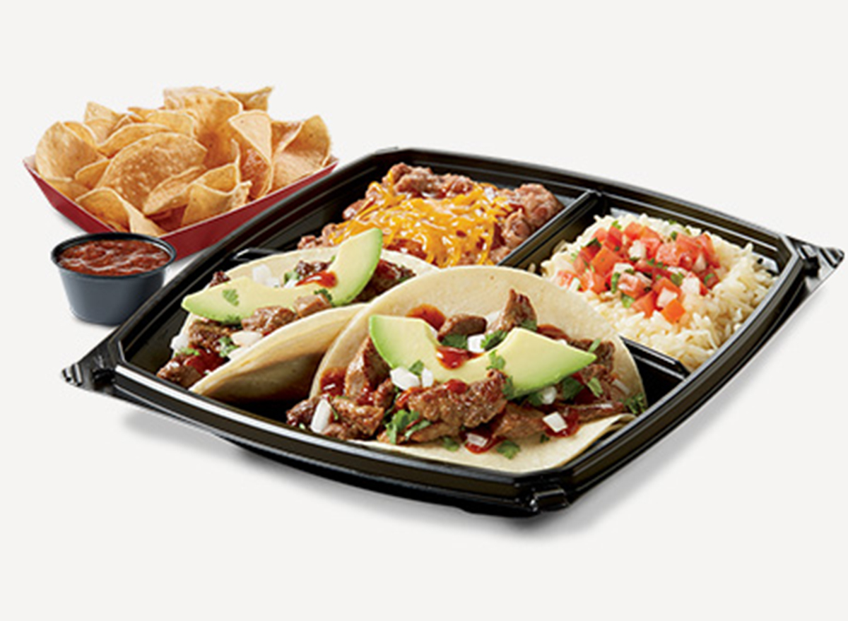 del taco street tacos plato
