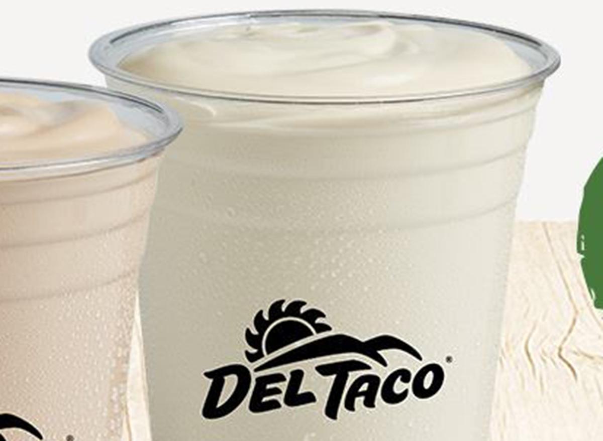 del taco vanilla milkshake