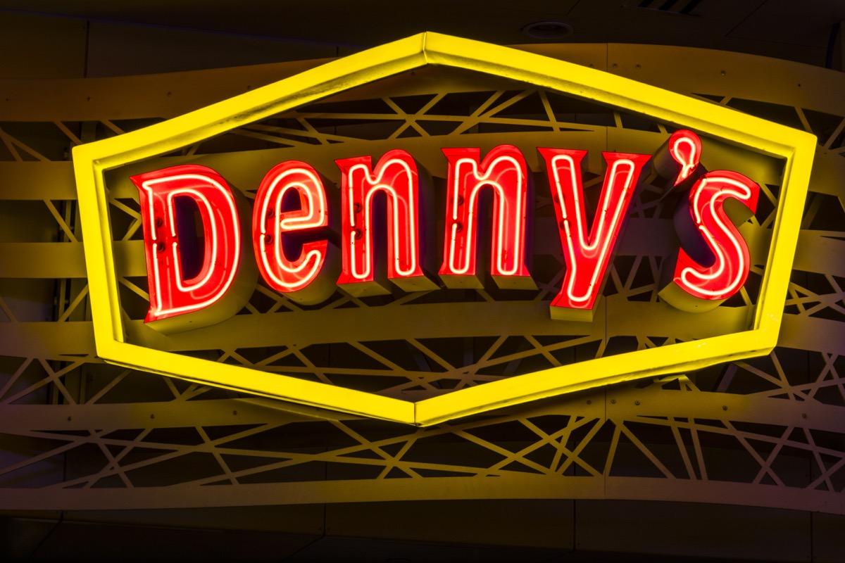 dennys sign in las vegas