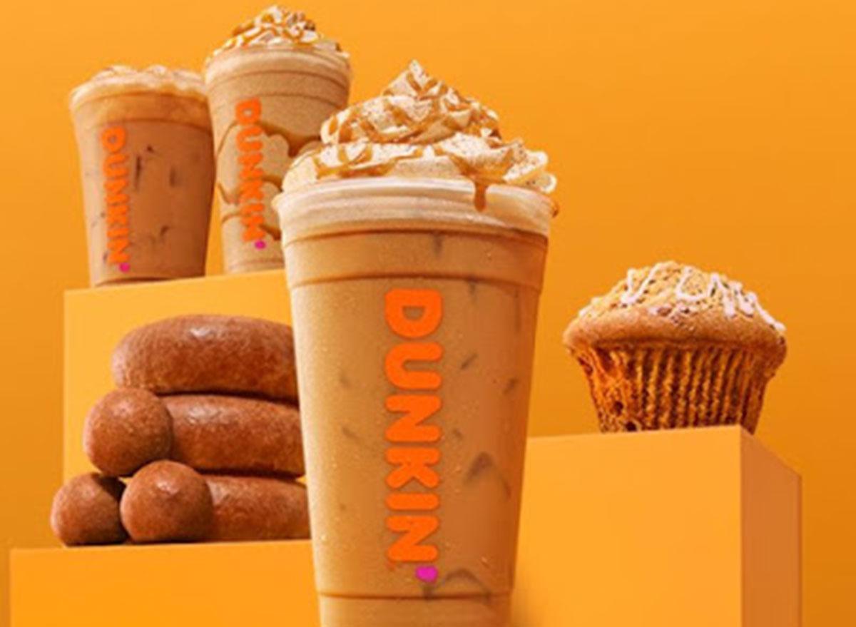 dunkin cinnamon sugar pumpkin latte