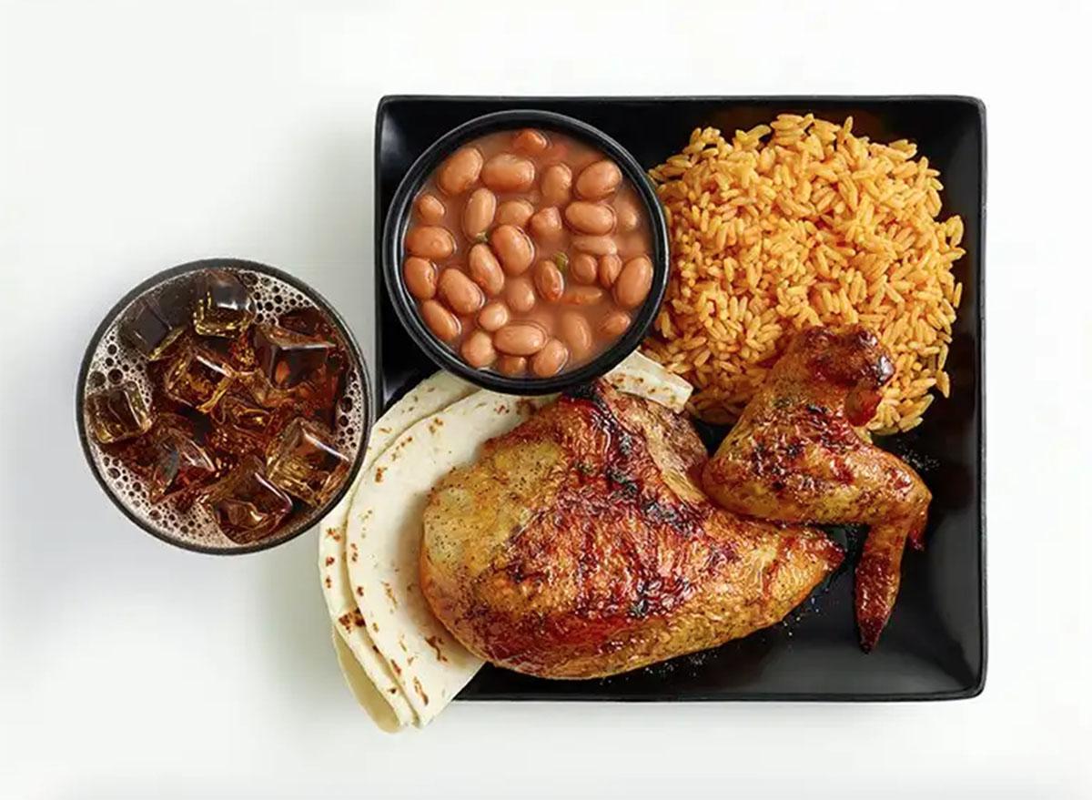 el pollo loco 2 piece chicken meal