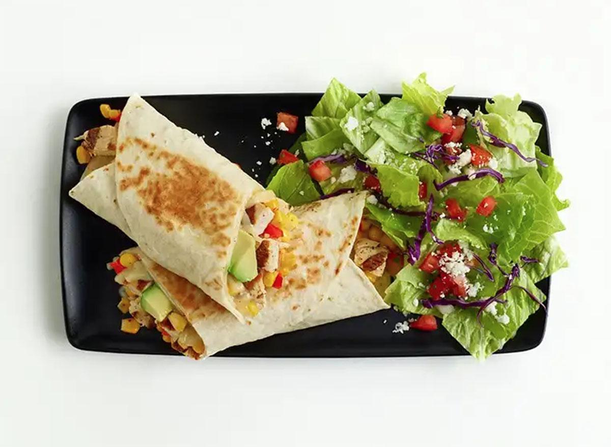 el pollo loco chicken avocado tortilla wrap