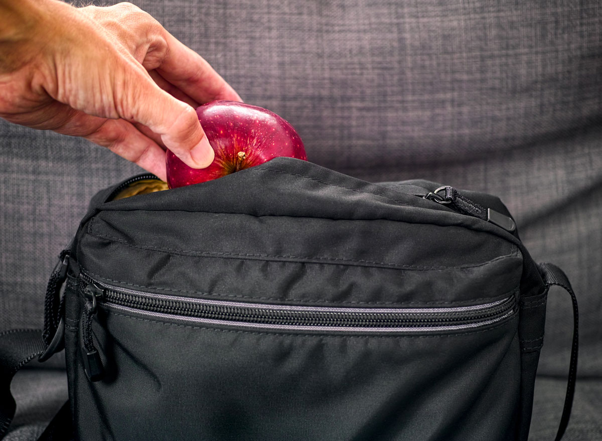 Keep an emergency snack of an apple in your bag or purse