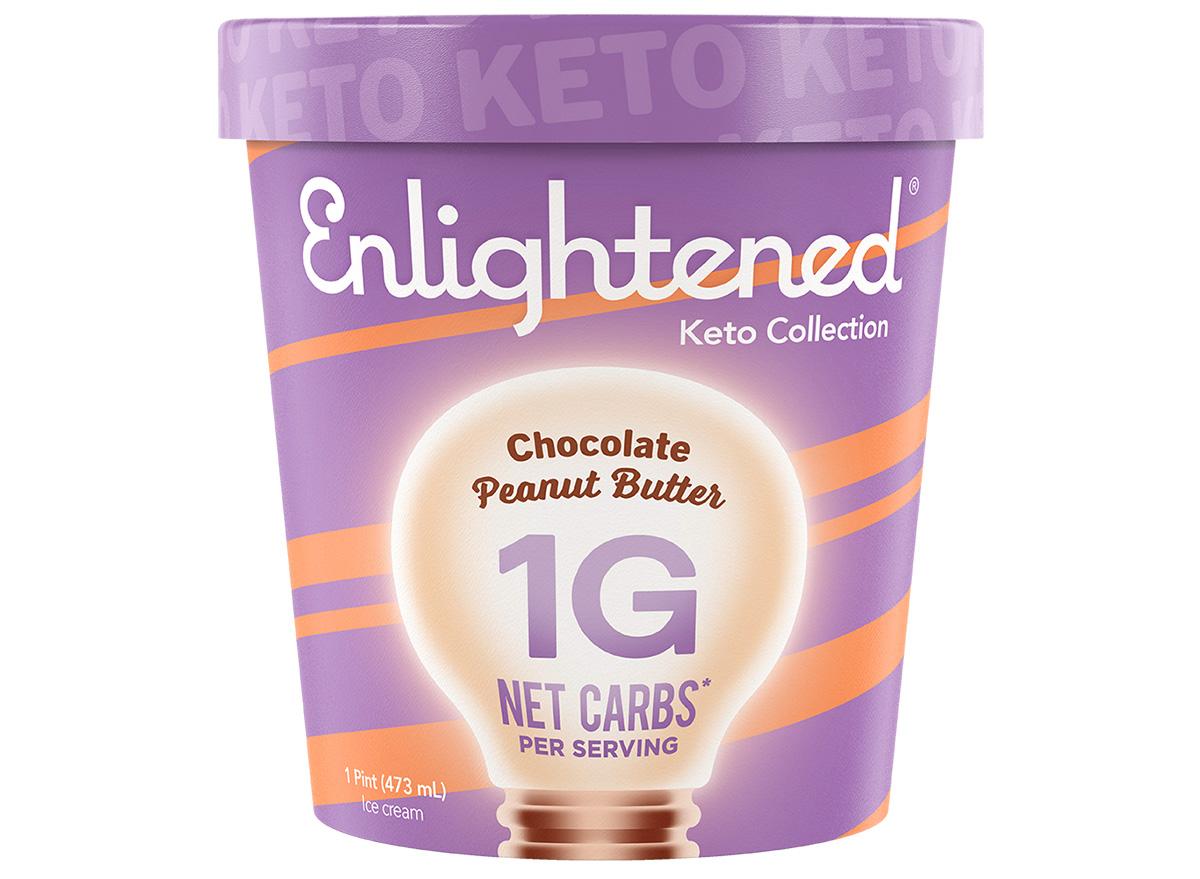 enlightened peanut butter chocolate keto ice cream