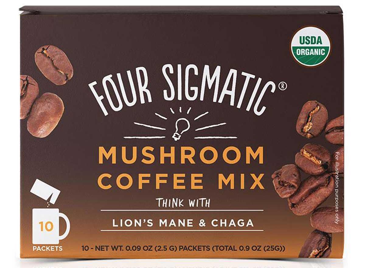 Four sigmatic mushroom coffee mix lions mane chaga