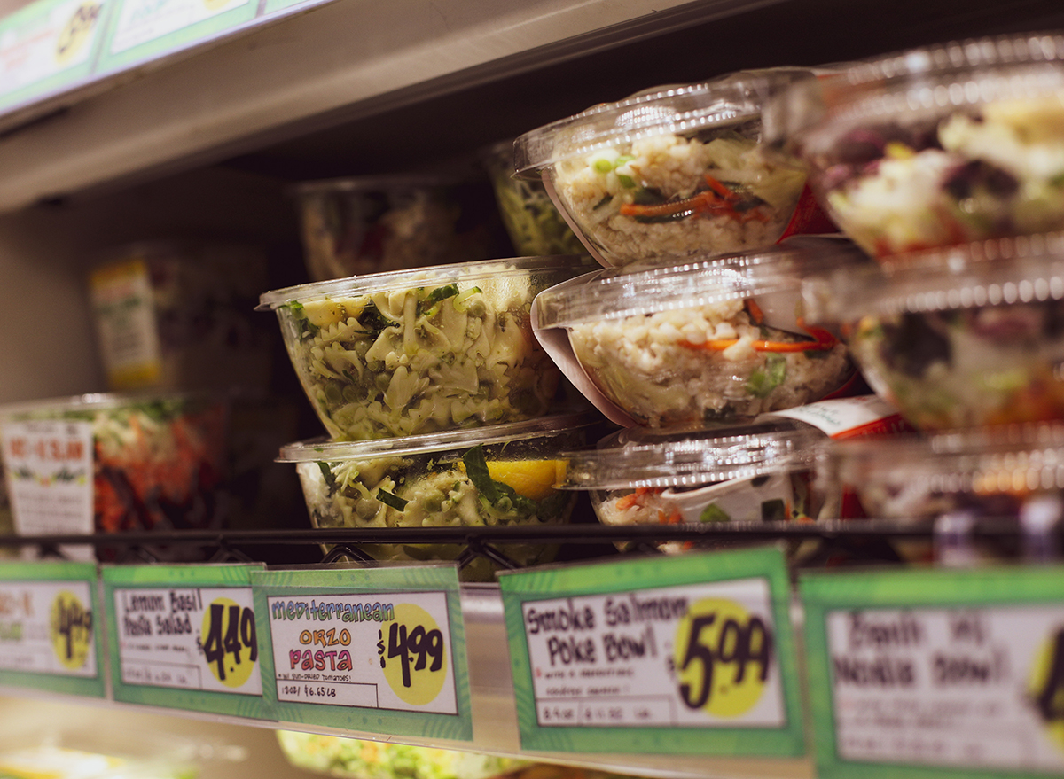 Fresh salads for easy on-the-go grabbing at grocery stores