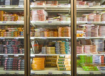 Frozen pizza aisle