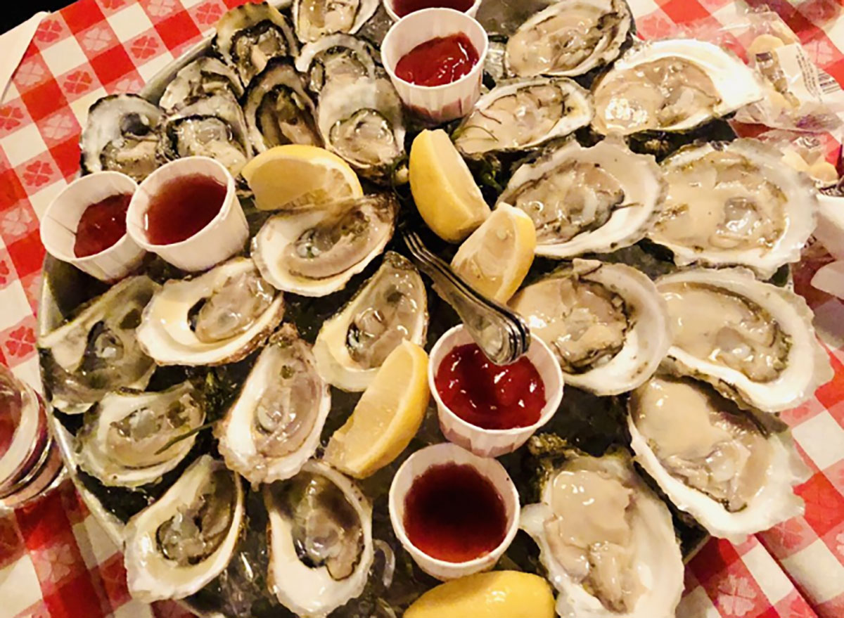 platter of raw oysters on the half shell grand central oyster bar