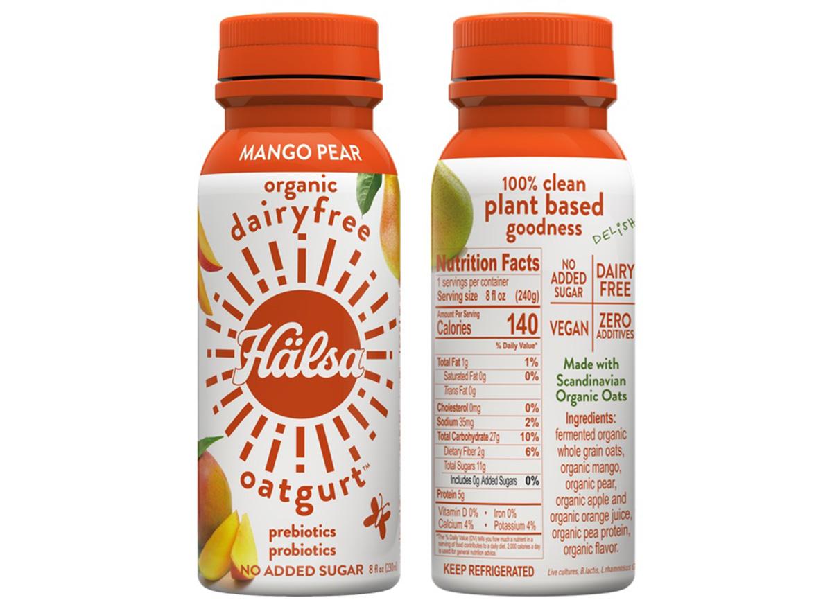 halsa oatgurt mango and pear drink
