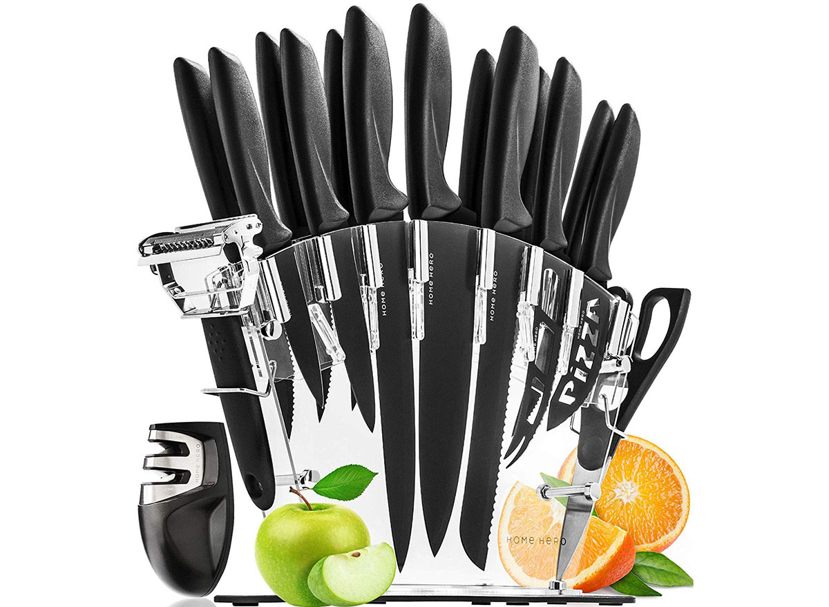 home hero stainless steel knife set