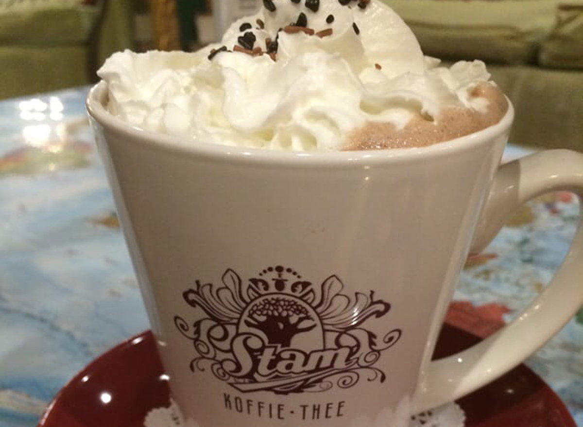 hot chocolate from chocolate chocolaterie Stam of Ames