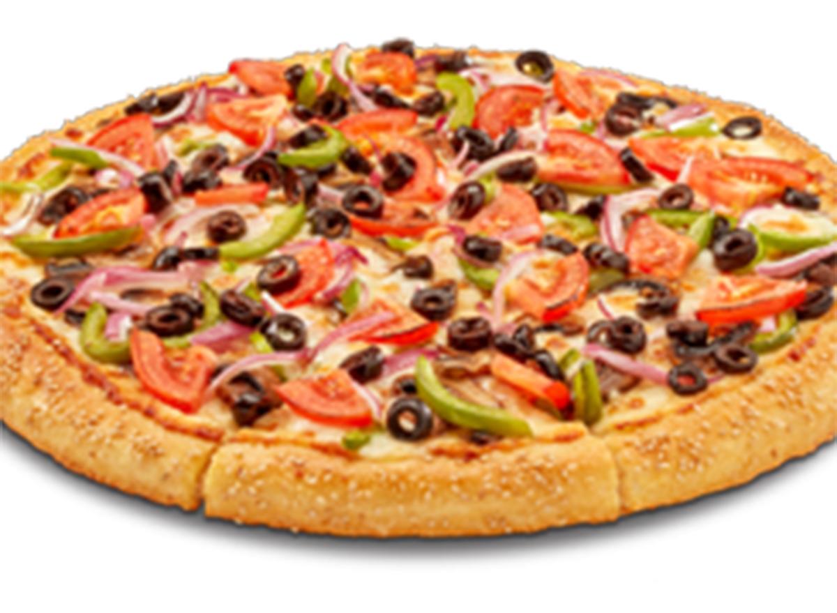 hungry howies medium veggie thin crust pizza