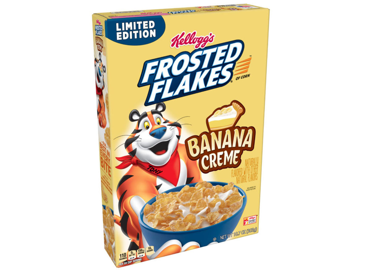 kelloggs frosted flakes banana cream cereal