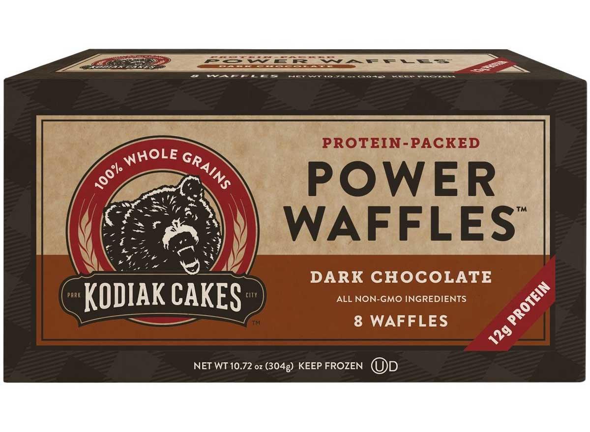 Kodiak cakes power waffles dark chocolate protein waffles