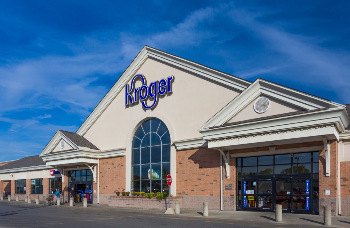 kroger storefront during a sunny day